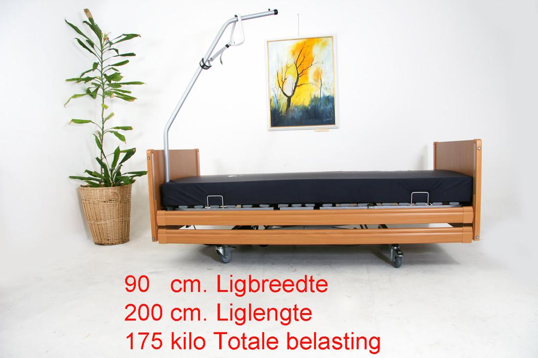 Beatrix 90 x 200 tot 175 kilo Nieuw Hooglaag bed