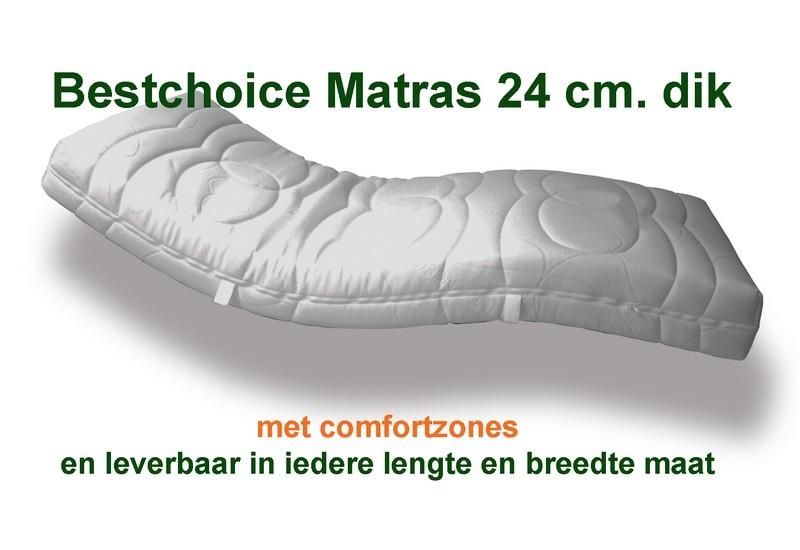 Matras Bestchoice 24 cm  dik.1ste klas kwaliteits- matras met comfort zones