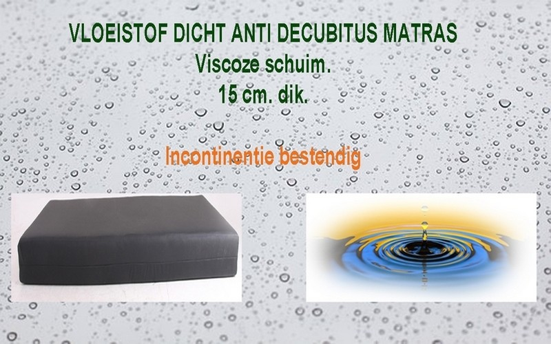 Incontinentie Matras BodyComfort Anti-Decubitus 15 cm dik