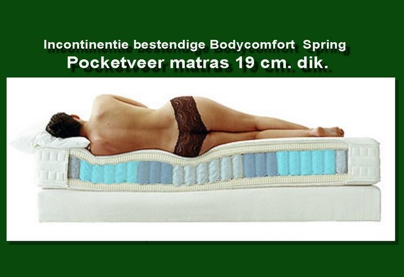 Incontinentie Pocketveer Matras Bodycomfort Spring 19 cm dik