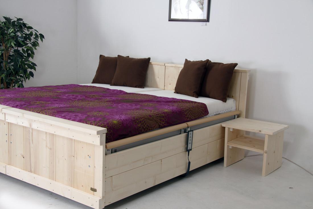Steigerhouten hoog laag bed model Classic 180 x 200 tot 165 kilo